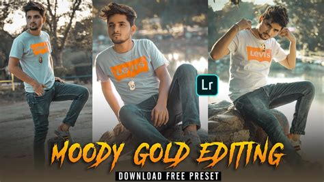 Moody Gold Lightroom mobile editing tutorial - download