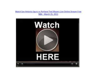 PPT - About of Spurs & Tennis Live Stream PowerPoint