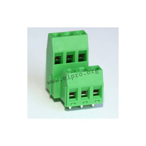 AK 370/03-5,0-V, pitch: 5mm, 24A, 2-level screw-cage clamp