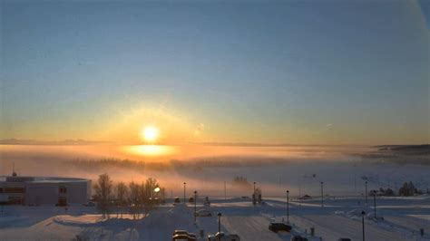 A winter solstice time lapse in Fairbanks, Alaska   The