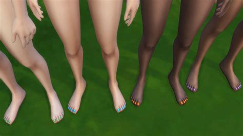 Mod The Sims - Colorful Toenails 4 All!