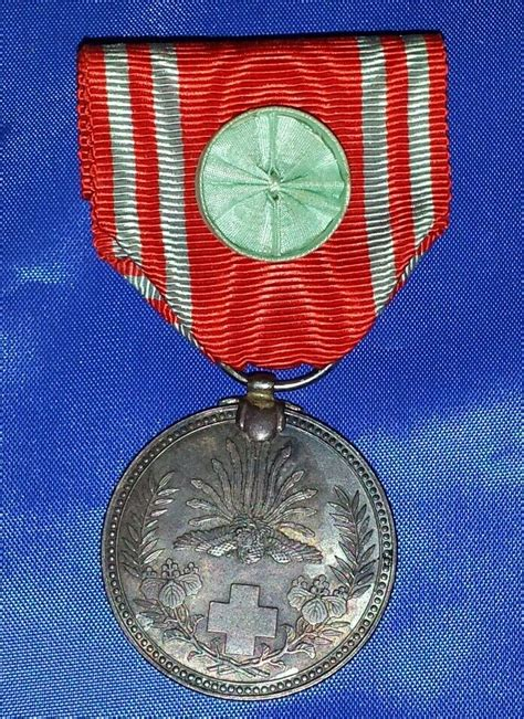 WW2 LIFE MEMBER JAPANESE RED CROSS SILVER WITH BLUE