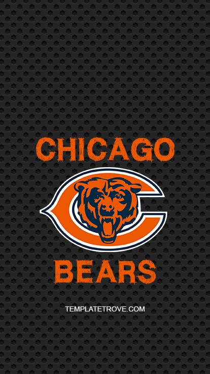 2018-2019 Chicago Bears Lock Screen Schedule for iPhone 6