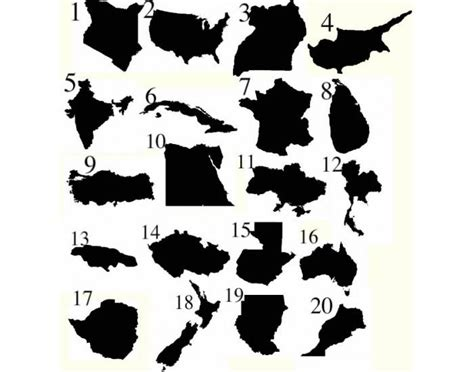 Countries Silhouettes