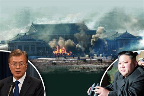 North Korea destroy's South's presidential palace in mock