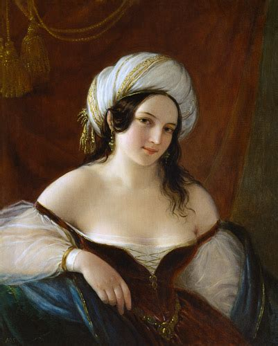 Odalisque - Natale Schiavoni as art print or hand painted oil
