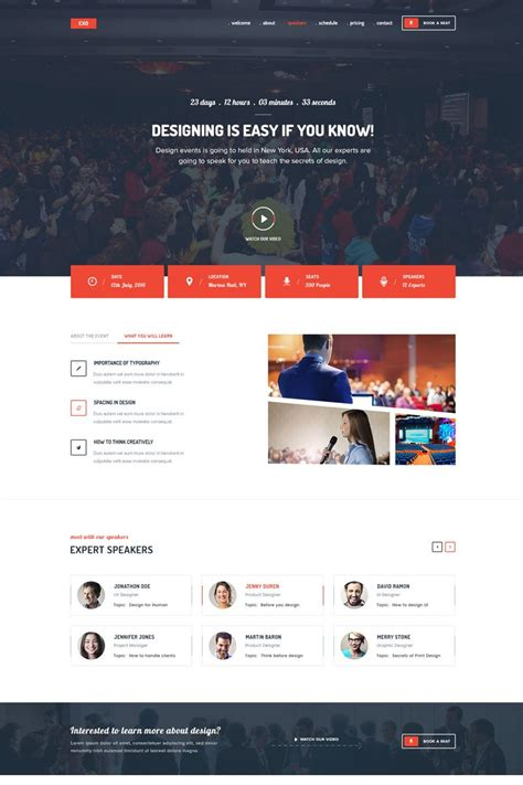 EXO   Event Landing Page Template #68298