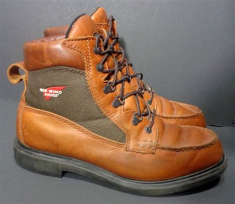 RED WING® 203 MUSCLE BROWN LEATHER WORK BOOTS MOC TOE MEN