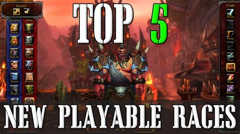 Top 5 Possible New Playable Races | World of Warcraft Top