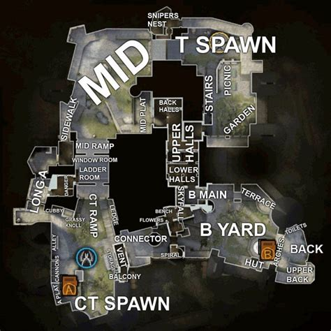 CS:GO Map Callouts - Overviews for Competitive Maps