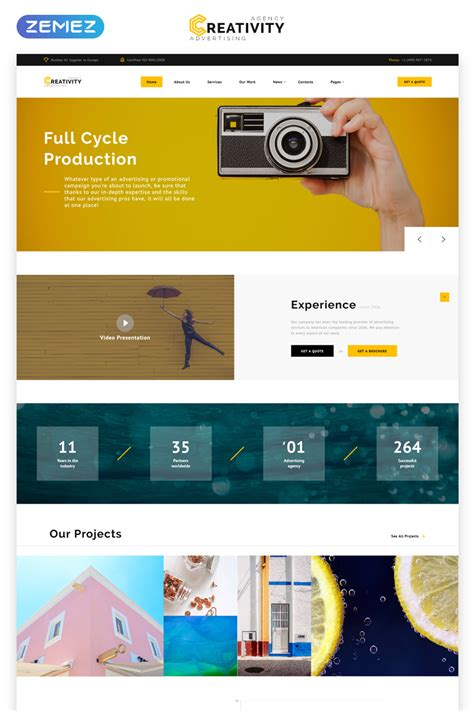 Advertising Agency Multipage HTML Template